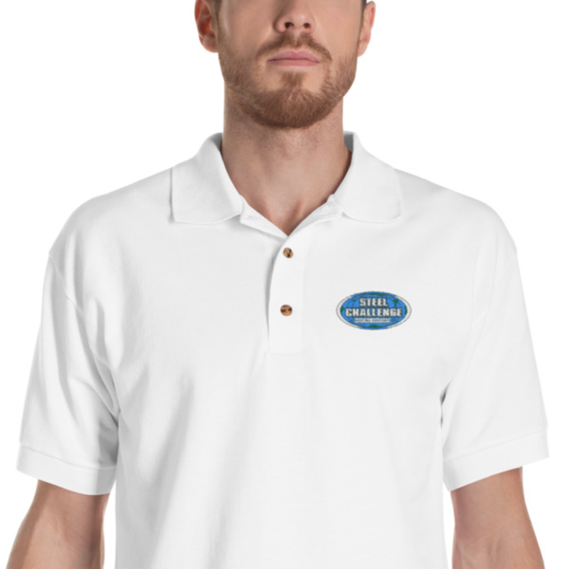 Steel Challenge Embroidered Polo Shirt