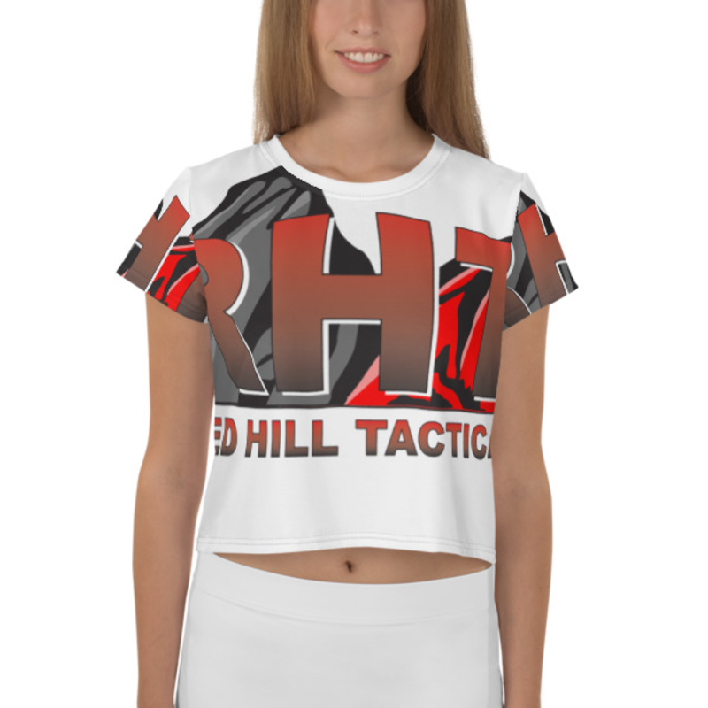 RHT All-Over Print Crop Tee
