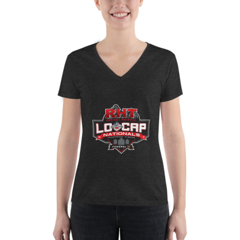 USPSA Lo Cap Nationals Women's Fashion Deep V-neck Tee
