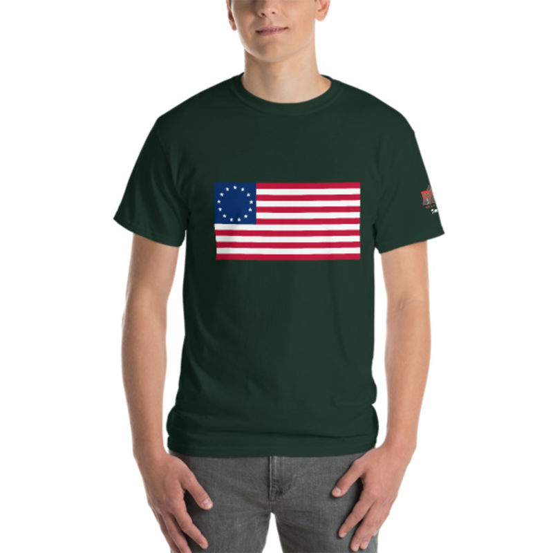 Dark Color Betsy Ross Short-Sleeve T-Shirt