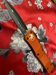 Microtech Combat Trodon Orange with Black Standard D/E