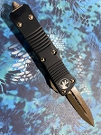 Microtech Troodon Double Edge Black Handle Troodon Bronze