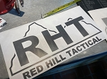 Red Hill Tactical Logo Transfer Sticker - large