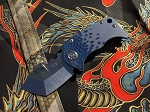 Medford Knife and Tool Panzer Blue Hammered
