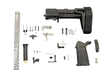 PSA MOE EPT Pistol Lower Build Kit with SB Tactical PDW Brace - Black