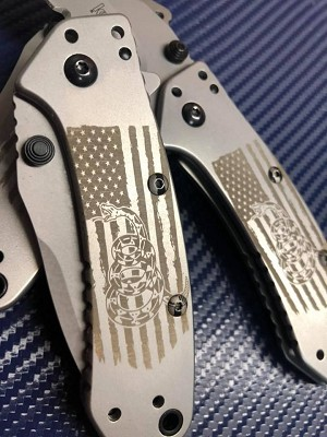 Kershaw Cryo Hinderer Assisted Opener - Don't Tread On Me
