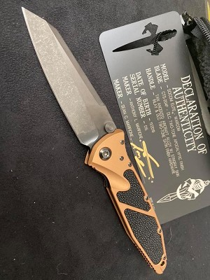 Marfione Custom Warcom DLC Blade Tan Handle DLC Hardware