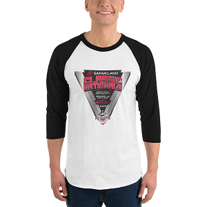 Classic Nationals 3/4 sleeve raglan shirt